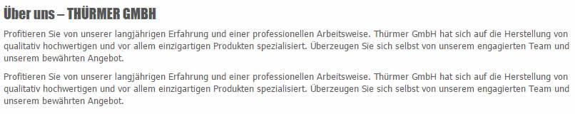 Über Thürmer GmbH